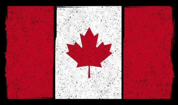 Flaga kanady ilustracja w stylu grunge