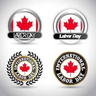 Flaga kanady święto pracy wektor