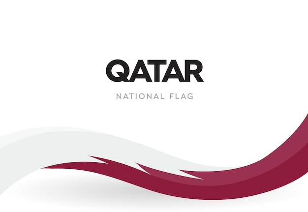 Flaga kataru z czerwonymi i białymi falami