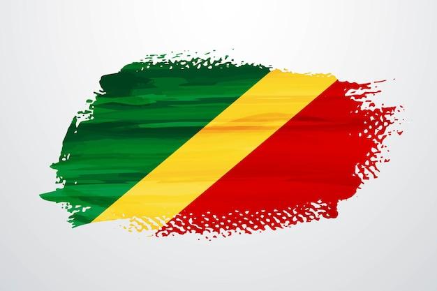Flaga kongo pędzla