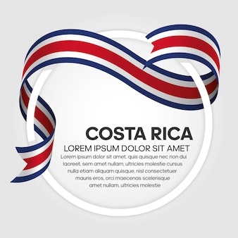 Flaga kostaryki wstążką, ilustracji wektorowych na białym tle