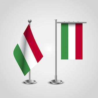 Flaga kraju węgry na biegun
