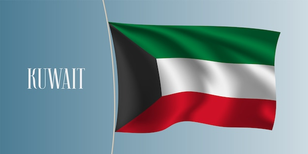 Flaga kuwejtu macha ilustracją