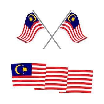 Flaga malezji wektor ikona ilustracja projektu szablon