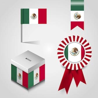 Flaga meksyku z kreatywnych wektor