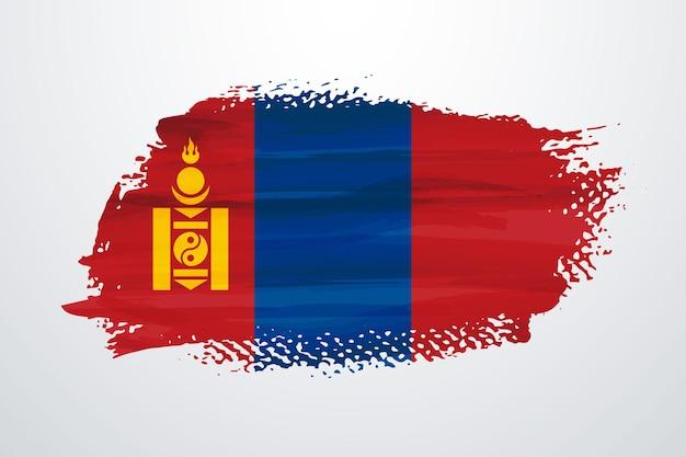 Flaga mongolii pędzlem