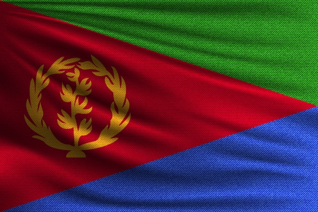 Flaga narodowa erytrei.