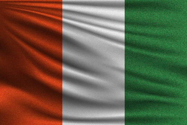 Flaga narodowa wybrzeża kości słoniowej.