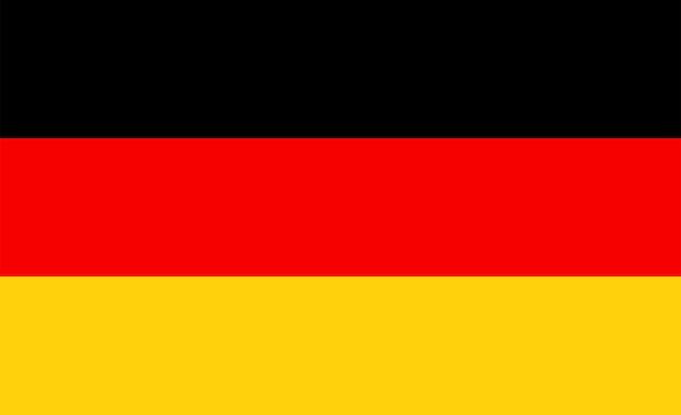 Flaga niemiec - oryginalne kolory i proporcje. niemcy ilustracja wektorowa eps 10