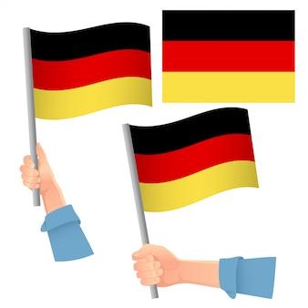 Flaga niemiec w zestawie ręcznym