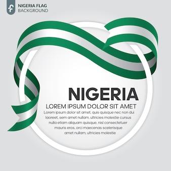 Flaga nigerii wstążka wektor ilustracja na białym tle