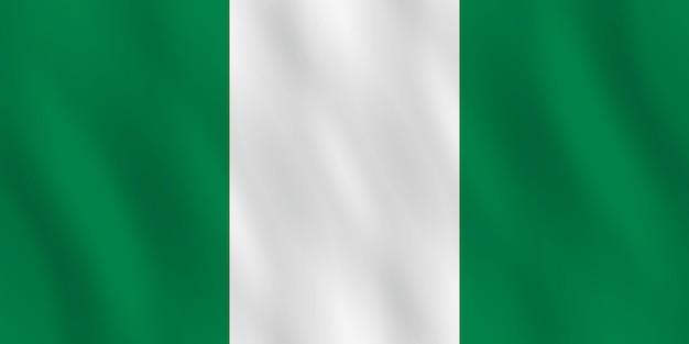 Flaga nigerii z efektem falowania, oficjalne proporcje.