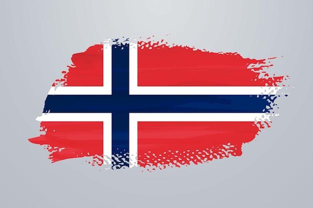 Flaga norwegii pędzla farby