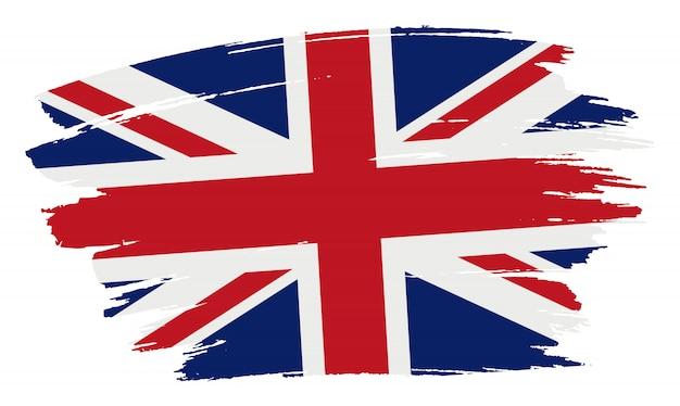 Flaga obrysu pędzla zjednoczonego królestwa