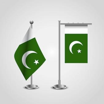 Flaga pakistanu z kreatywnych wektor