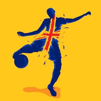 Flaga piłki nożnej powitalny naród anglia