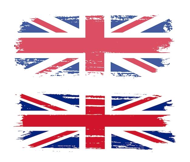 Flaga pociągnięcia pędzla wielkiej brytanii