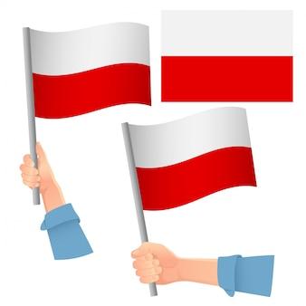 Flaga polski w zestawie ręcznym