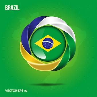 Flaga przypinka brazylia