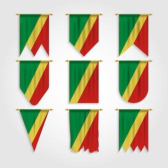 Flaga republiki konga w różnych kształtach, flaga konga w różnych kształtach