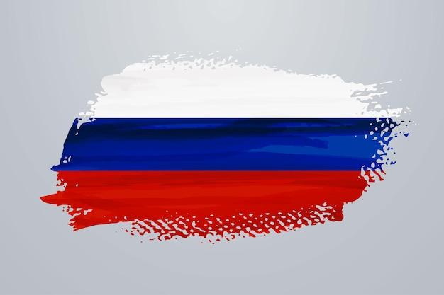 Flaga rosji pędzla farby