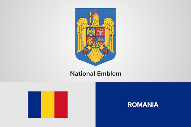 Flaga rumunii godło szablon