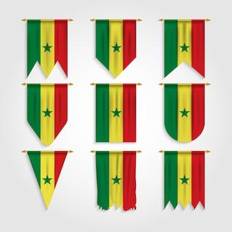 Flaga senegalu w różnych kształtach, flaga senegalu w różnych kształtach