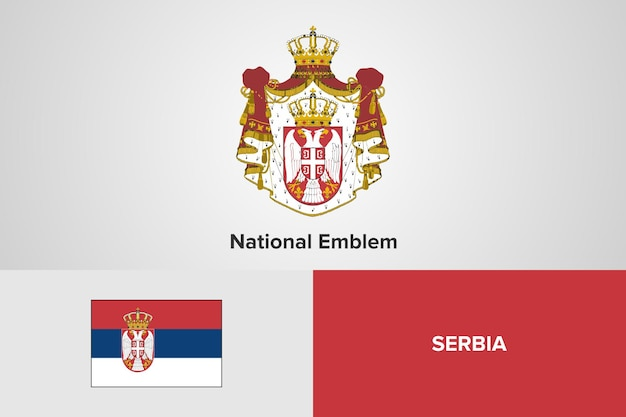 Flaga serbii godło szablon