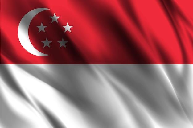 Flaga singapuru macha tle jedwabiu