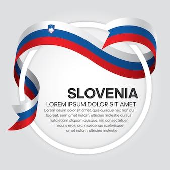 Flaga słowenii wstążka wektor ilustracja na białym tle