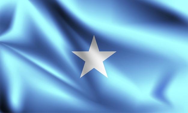 Flaga somalii wiejący wiatr. część serii. macha flagą somalii.