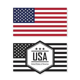 Flaga stanów zjednoczonych ameryki, usa.
