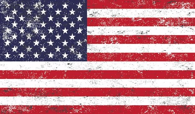 Flaga stanów zjednoczonych grunge