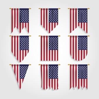 Flaga stanów zjednoczonych w różnych kształtach