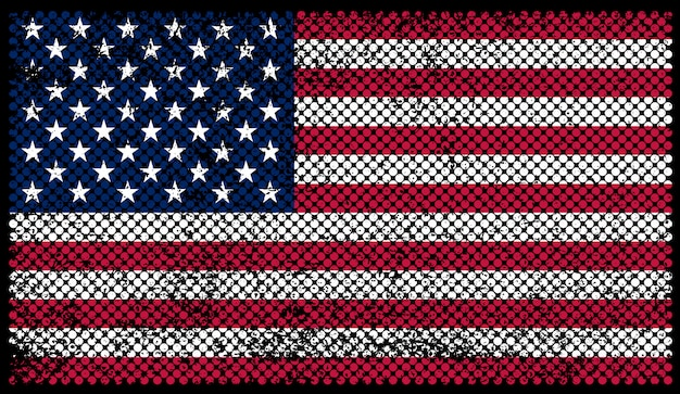 Flaga stanów zjednoczonych w stylu grungy