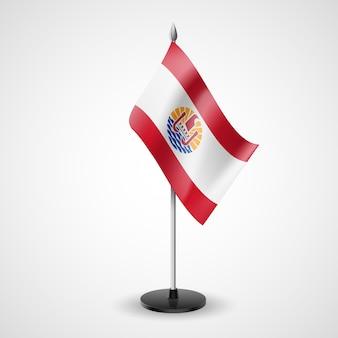 Flaga stołowa polinezji francuskiej