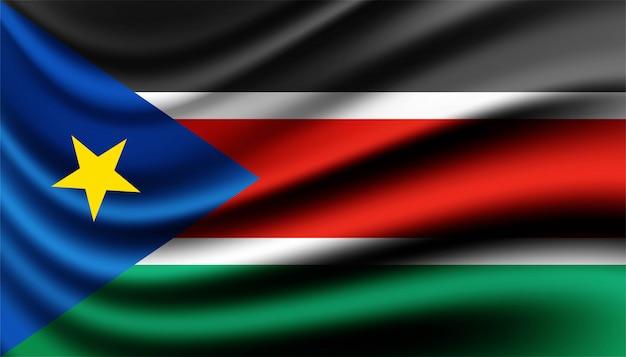 Flaga sudanu południowego szablonu tła.