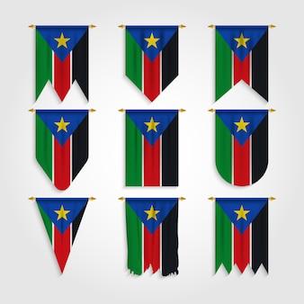 Flaga sudanu południowego w różnych kształtach, flaga sudanu południowego w różnych kształtach