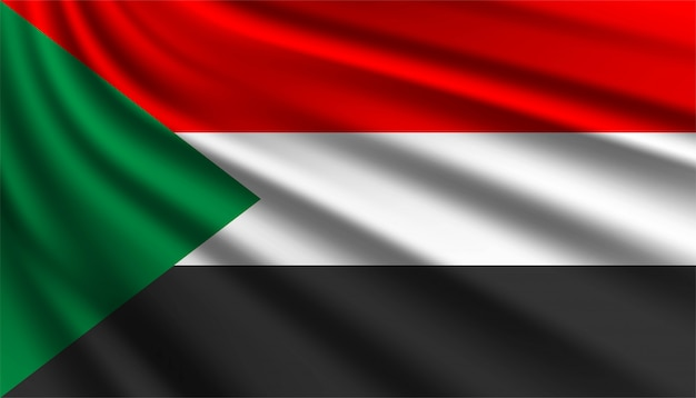 Flaga sudanu szablon tło.