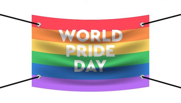 Flaga szablon szablon tło dzień światowej dumy.