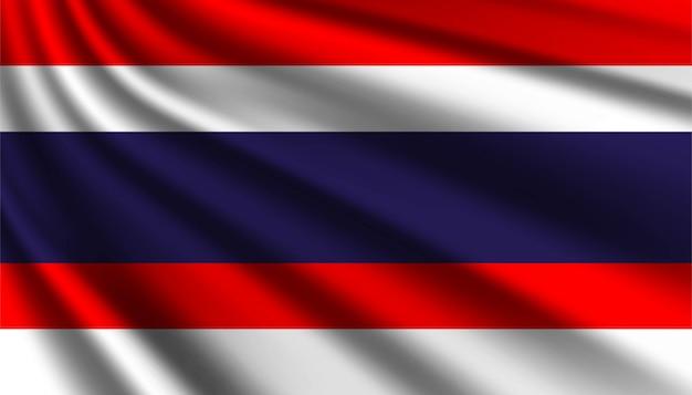 Flaga tajlandii szablonu tła.