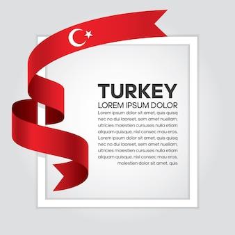 Flaga turcji wstążka, ilustracji wektorowych na białym tle