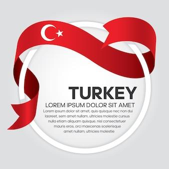 Flaga turcji wstążka wektor ilustracja na białym tle