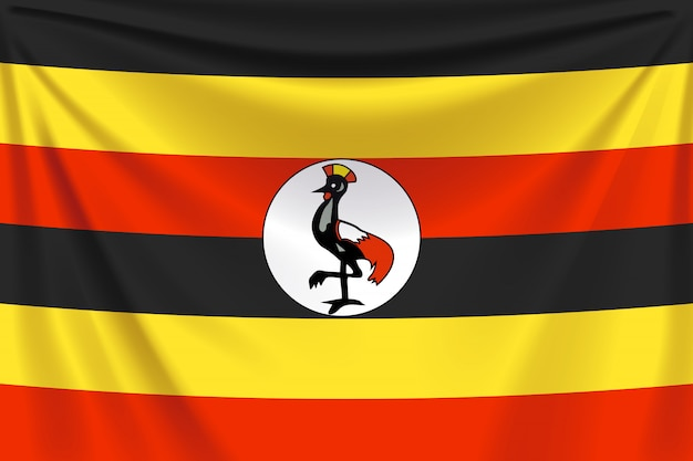 Flaga ugandy z powrotem