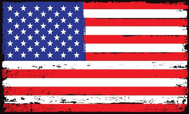 Flaga usa grunge