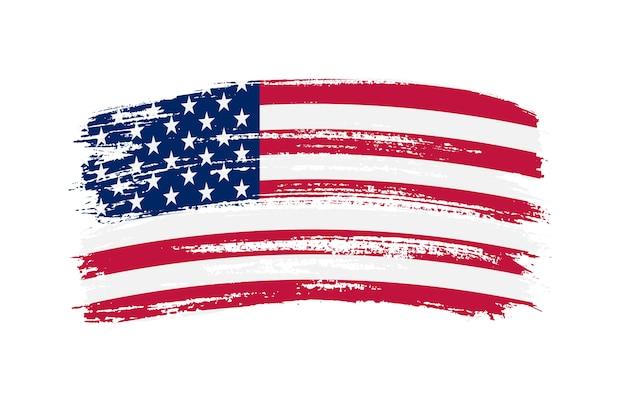 Flaga usa obrysu pędzla