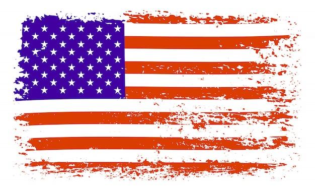 Flaga usa pociągnięcia pędzlem