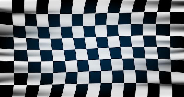 Flaga w szachownicę do wyścigów samochodowych lub klubu rajdowego