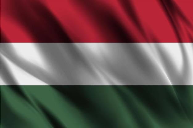 Flaga węgier macha streszczenie tło