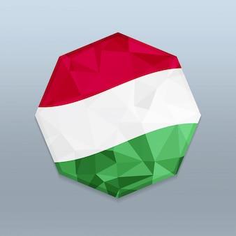 Flaga węgier z wektora projektowania octagone